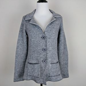 Cocogio Gray Button Down Peacoat Jacket